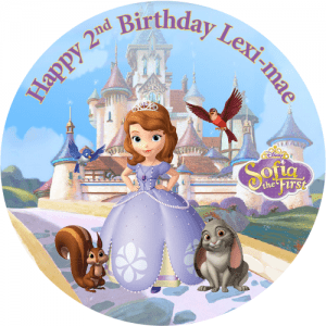 Sofia the First Round Edible Cake Topper