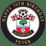 Southampton Football Club Round Edible Cake Topper