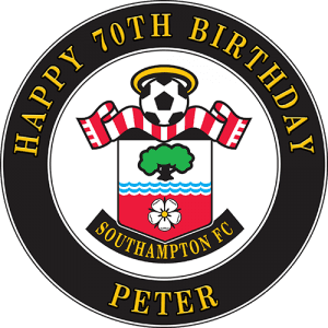 Southampton Football Club Round Edible Cake Topper