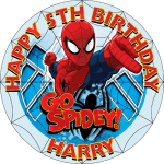 Spiderman Round Edible Cake Topper