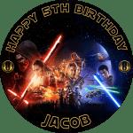 Star Wars Awakening Round Edible Cake Topper