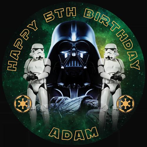 Star Wars Darth Vadar Storm Trooper Sweet Tops Personalised