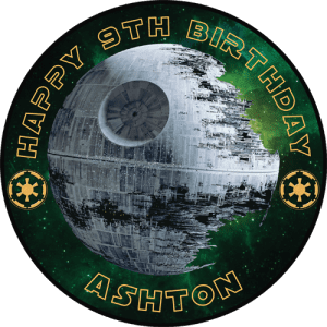 Star Wars Death Star Round Edible Cake Topper
