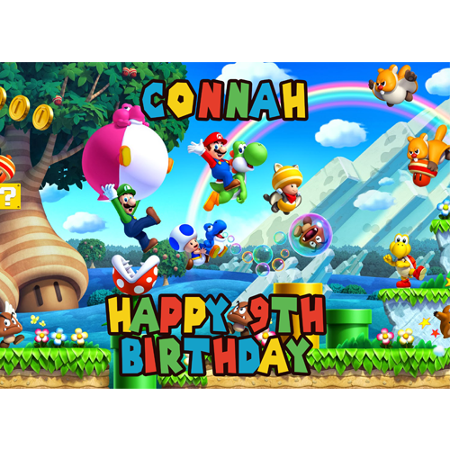 Super Mario Personalised Cake Topper