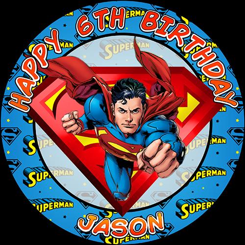 Супермен круглая картинка