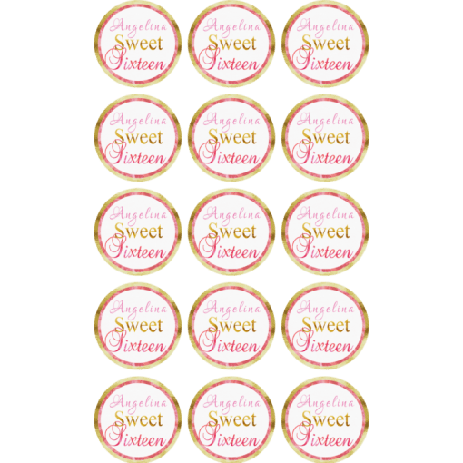 30 LEGO FRIENDS Edible Cupcake Toppers Wafer Paper Birthday Cake Decorations #1