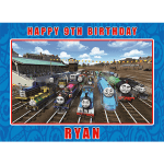Thomas the Tank Engine All Characters Rectangle Edible Cake Topper