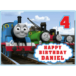 Thomas the Tank Engine Rectangle Edible Cake Topper