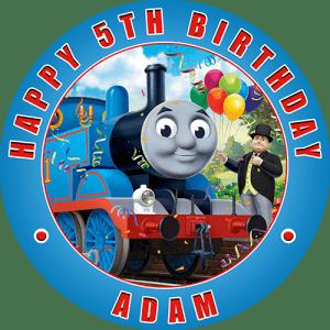 Thomas the Tank Engine Round Edible Cake Topper