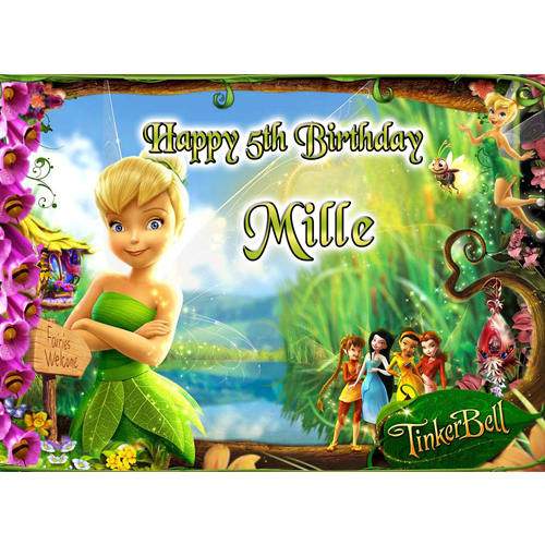 Tinkerbell Fairies Welcome Rectangle