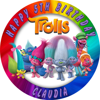 Trolls archives sweet tops personalised 100 edible for Angelina ballerina edible cake topper decoration sale