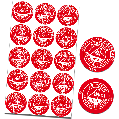 Aberdeen Football Club Cupcake Toppers