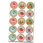 Christmas Edible Cupcake Toppers #1