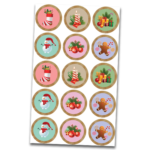 Christmas Cupcake Toppers.Christmas 15x 2 Or 30x 1 5 Cupcakes