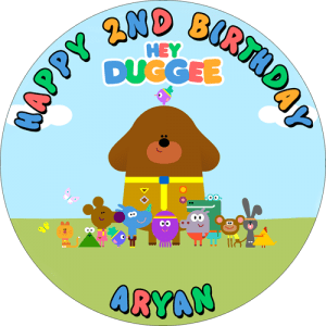Hey Duggee Round Edible Cake Topper