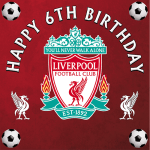 Liverpool Football Club Square Edible Cake Topper