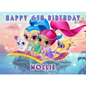 Shimmer and Shine Rectangle Edible Cake Topper