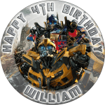 Transformers | Movie | Round Edible Cake Topper