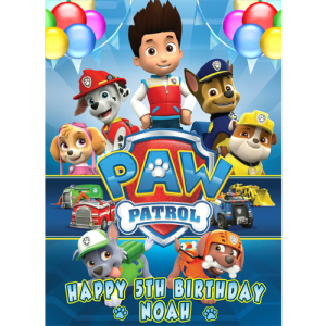 Paw Patrol Rectangle Edible Cake Topper