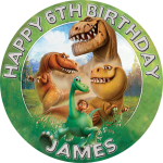 The Good Dinosaur Round Edible Cake Topper
