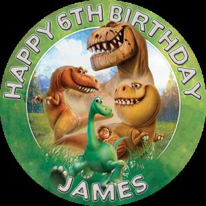 The Good Dinosaur Round Edible Cake Topper