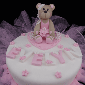 Handmade Ballerina Bear Cake Decoration
