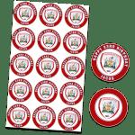 Barnsley Football Club Edible Cupcake Toppers