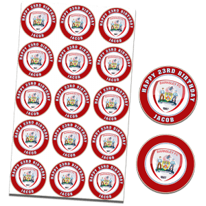Barnsley Football Club Edible Cupcake Toppers