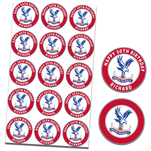 Crystal Palace Football Club Edible Cupcake Toppers
