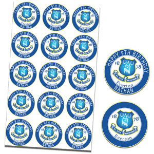 Everton Football Club Edible Cupcake Toppers