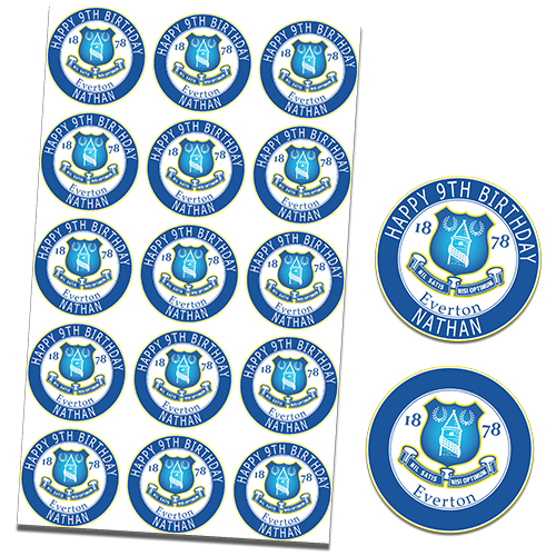 Everton Football Club Cupcake Toppers