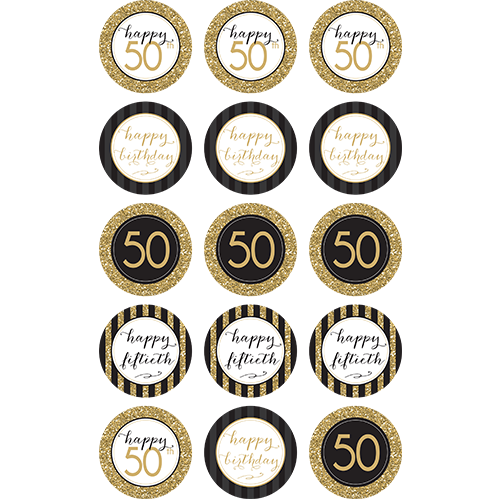 Fabulous Happy 50Th Birthday 15X 2 Cupcakes Sweet Tops Personalised Funny Birthday Cards Online Overcheapnameinfo