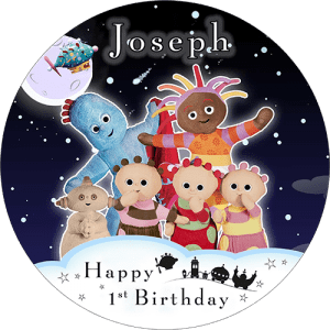 In the Night Garden Round Round Edible Cake Topper