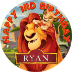 Lion King Round Edible Cake Topper