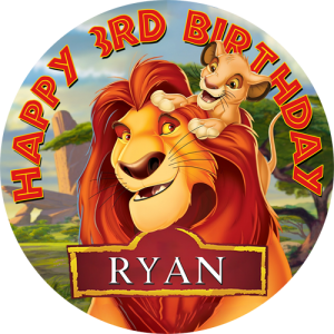 Lion King Round Edible Cake Topper