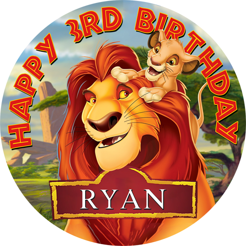Lion King Sweet Tops Personalised Edible Cake Toppers And Cupcake Toppers