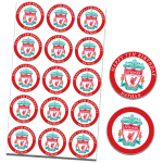 Liverpool Football Club Edible Cupcake Toppers