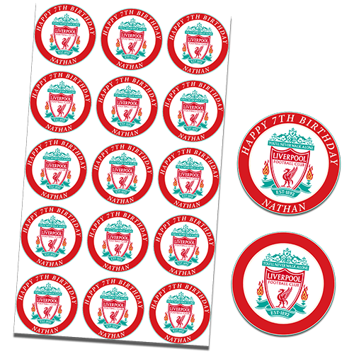 Liverpool Football Club Cupcake Toppers