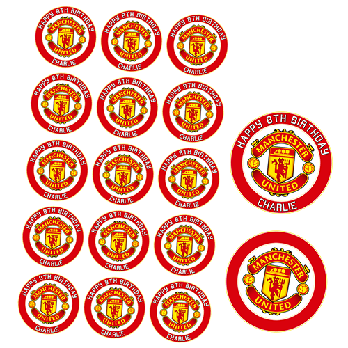 Manchester United Football Club Cupcake Toppers