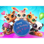 My Littlest Pet Shop Rectangle Cake Topper