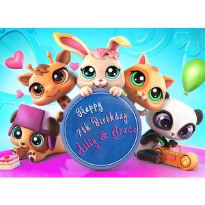 My Littlest Pet Shop Rectangle Cake Topper