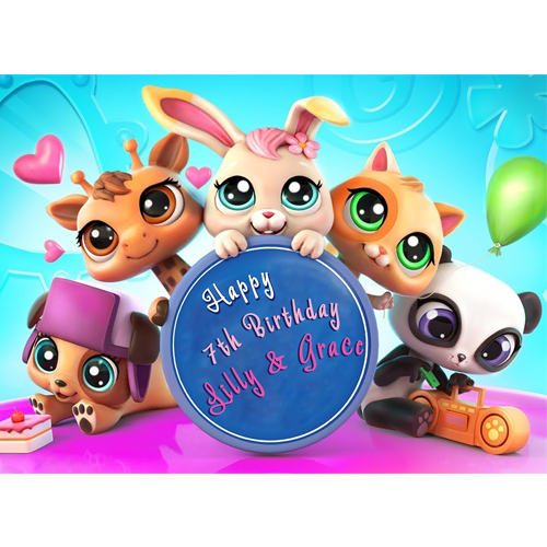 Enjoyable My Littlest Pet Shop Sweet Tops Personalised Edible Cake Funny Birthday Cards Online Elaedamsfinfo