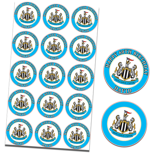 Newcastle United Football Club Cupcake Toppers