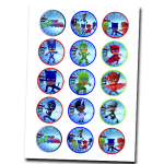 PJ Masks Edible Cupcake Toppers