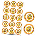 Paw Patrol Rubble Edible Cupcake Toppers