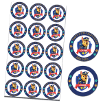 Paw Patrol Chase Edible Cupcake Toppers