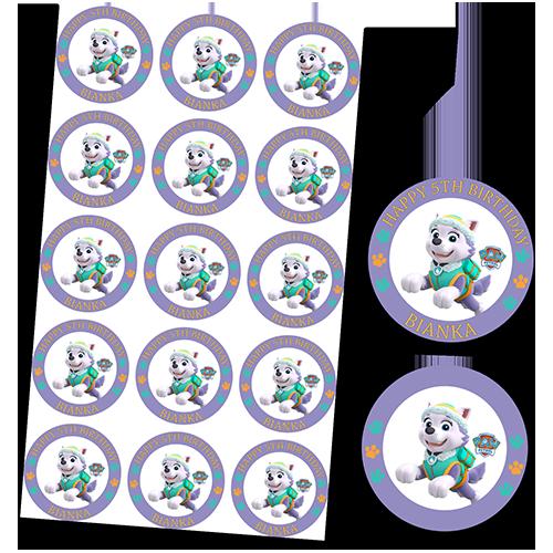 Paw Patrol Everest Cupcakes