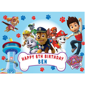 Paw Patrol Rectangle Edible Cake Topper #5