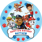 Paw Patrol All Characters Round Edible Cake Topper #3