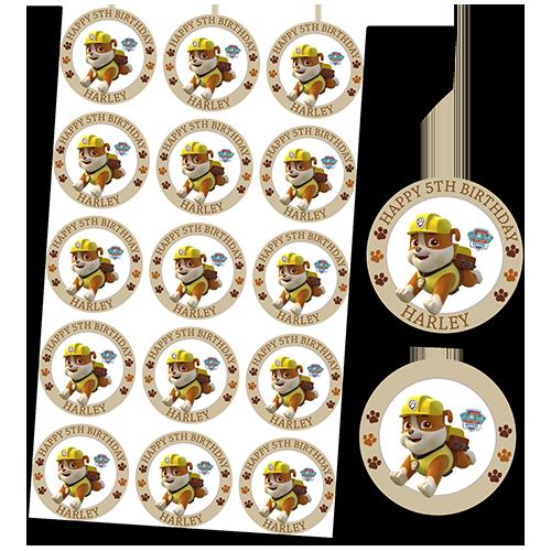 Paw Patrol Rubble Cupcakes